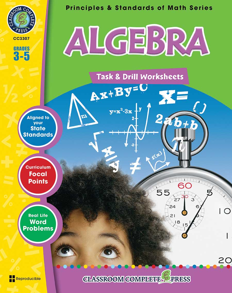Algebra - Task & Drill Sheets Gr. 3-5 - print book