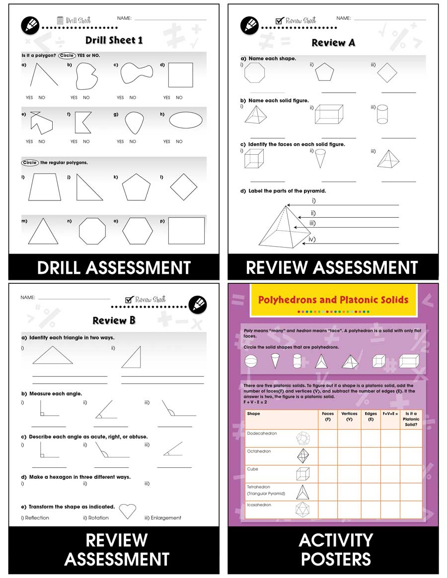 Geometry - Task & Drill Sheets Gr. 3-5 - print book