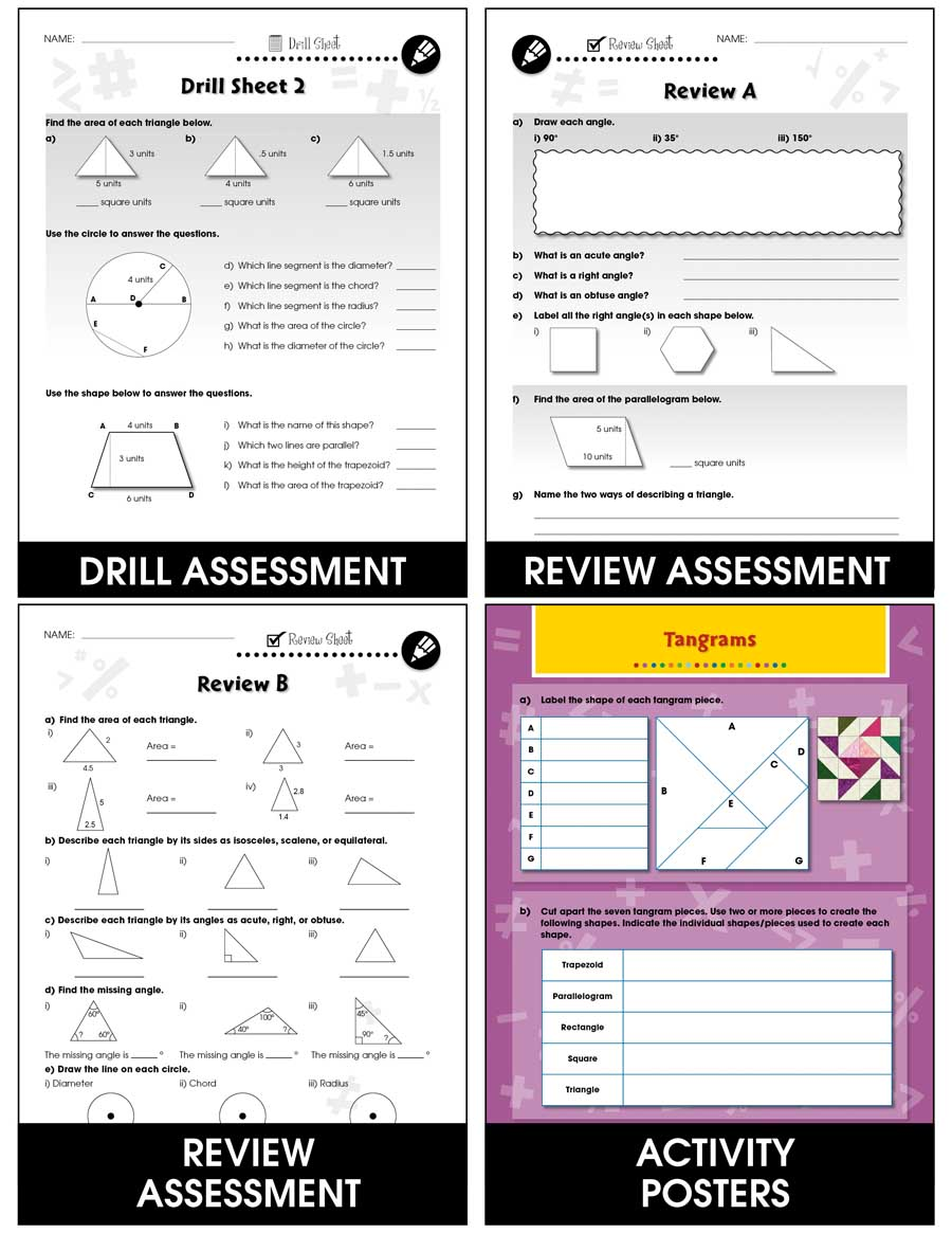 Geometry - Task & Drill Sheets Gr. 6-8 - print book