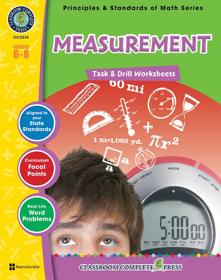 Measurement - Task & Drill Sheets Gr. 6-8 - print book