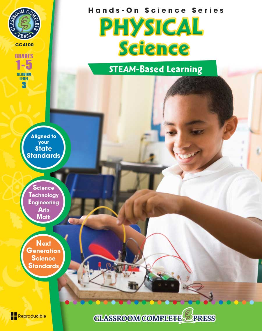 Hands-On STEAM - Physical Science Gr. 1-5 - print book