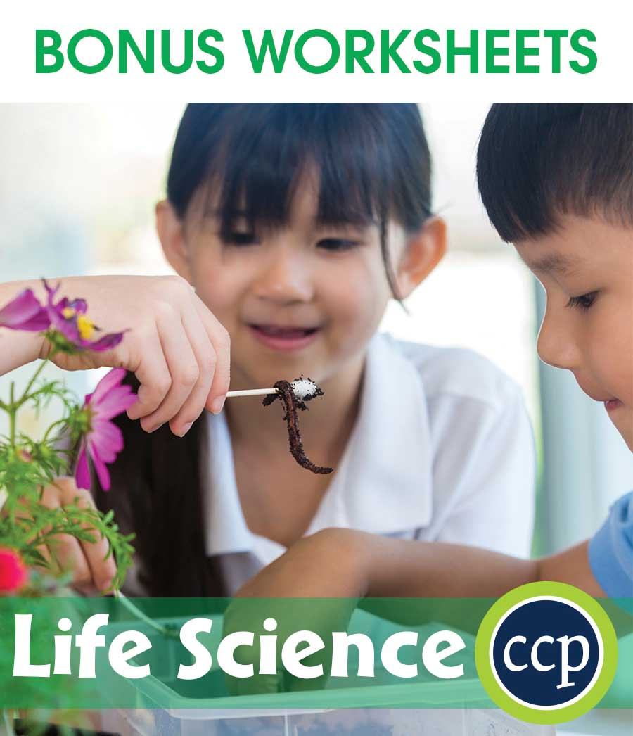 Hands-On STEAM - Life Science Gr. 1-5 - BONUS WORKSHEETS - eBook