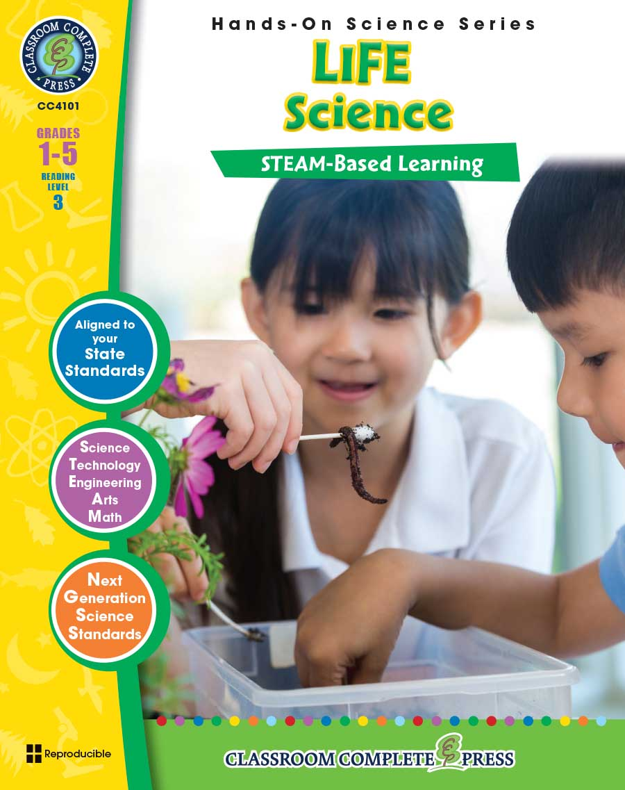 Hands-On STEAM - Life Science Gr. 1-5 - print book
