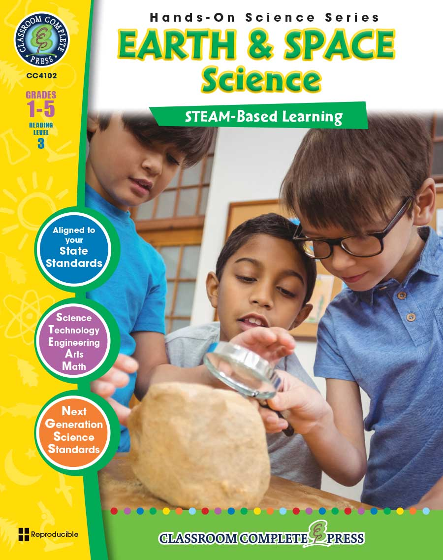 Hands-On STEAM - Earth & Space Science Gr. 1-5 - print book