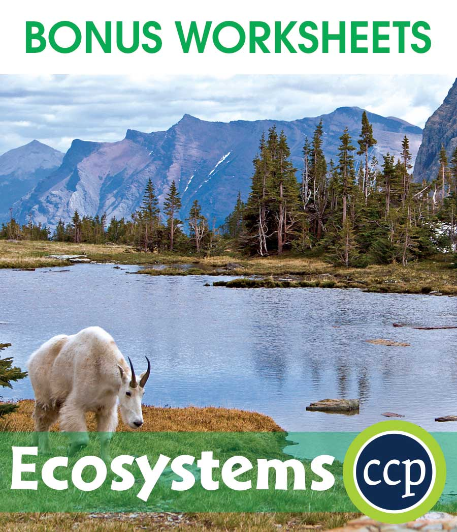 Ecosystems Gr. 5-8 - BONUS WORKSHEETS - eBook