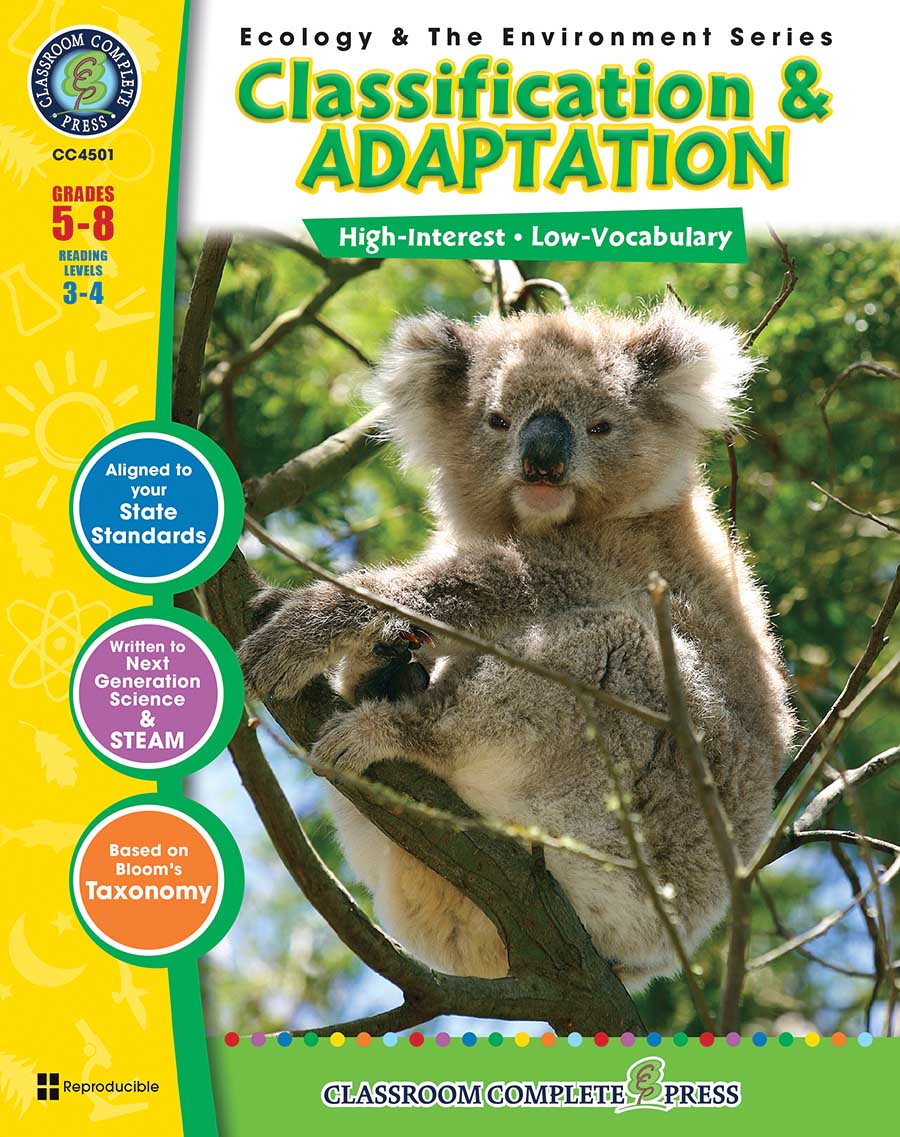 Classification & Adaptation Gr. 5-8 - print book