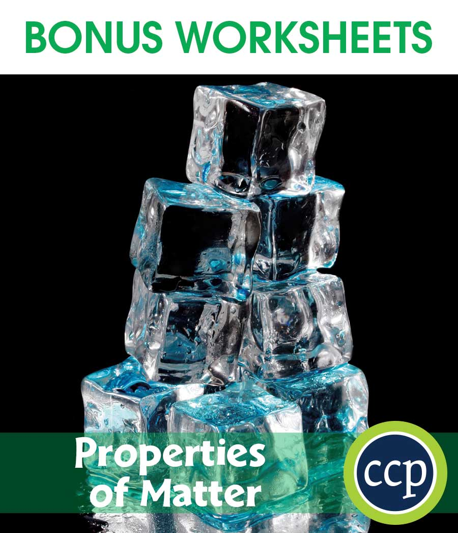 Properties of Matter Gr. 5-8 - BONUS WORKSHEETS - eBook