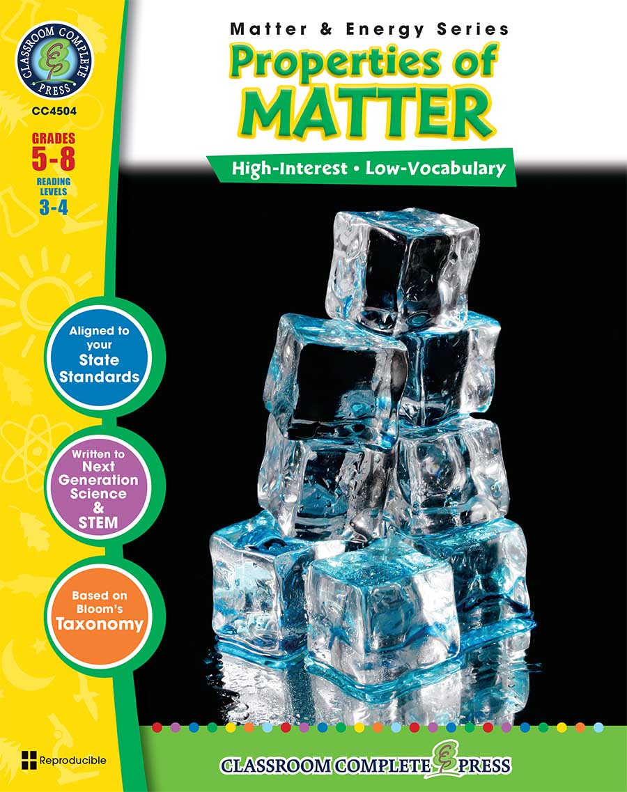 Properties of Matter Gr. 5-8 - print book