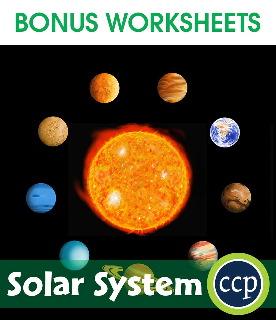 Solar System Gr. 5-8 - BONUS WORKSHEETS - eBook