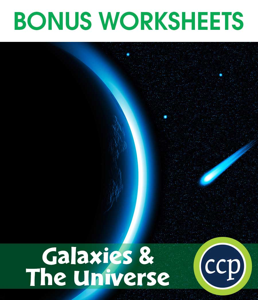 Galaxies & The Universe Gr. 5-8 - BONUS WORKSHEETS - eBook