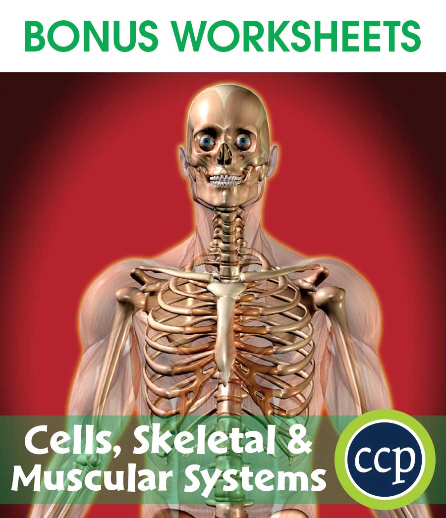 Cells, Skeletal & Muscular Systems Gr. 5-8 - BONUS WORKSHEETS - eBook