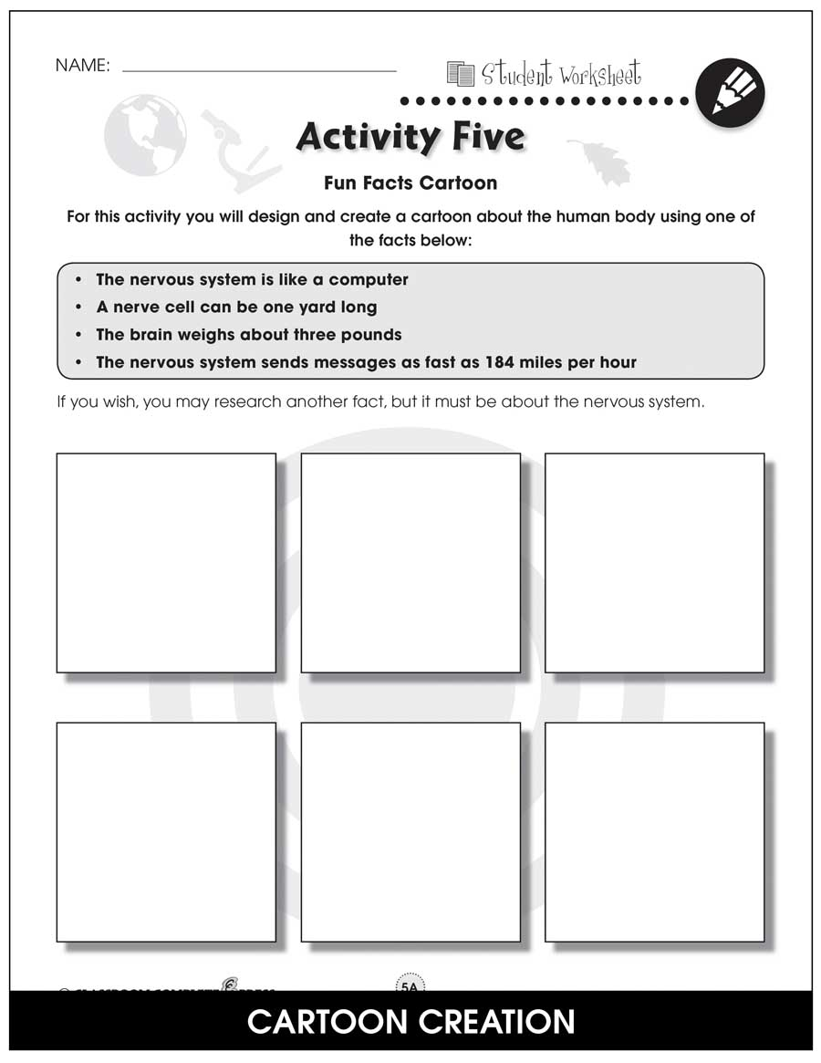 Senses, Nervous & Respiratory Systems Gr. 5-8 - BONUS WORKSHEETS - eBook