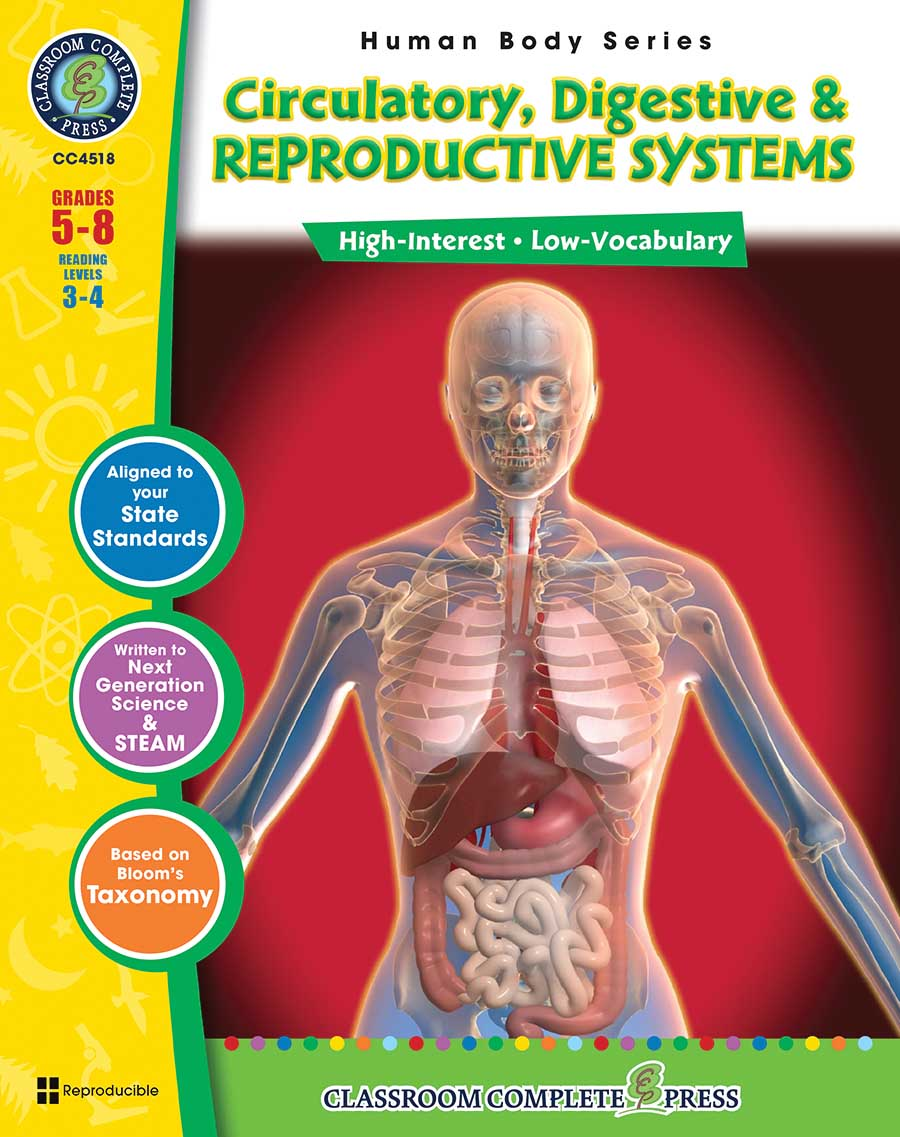 Circulatory, Digestive & Reproductive Systems Gr. 5-8 - print book