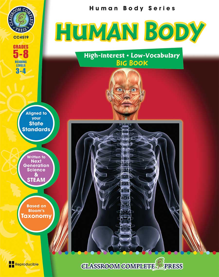 Human Body Big Book Gr. 5-8 - print book