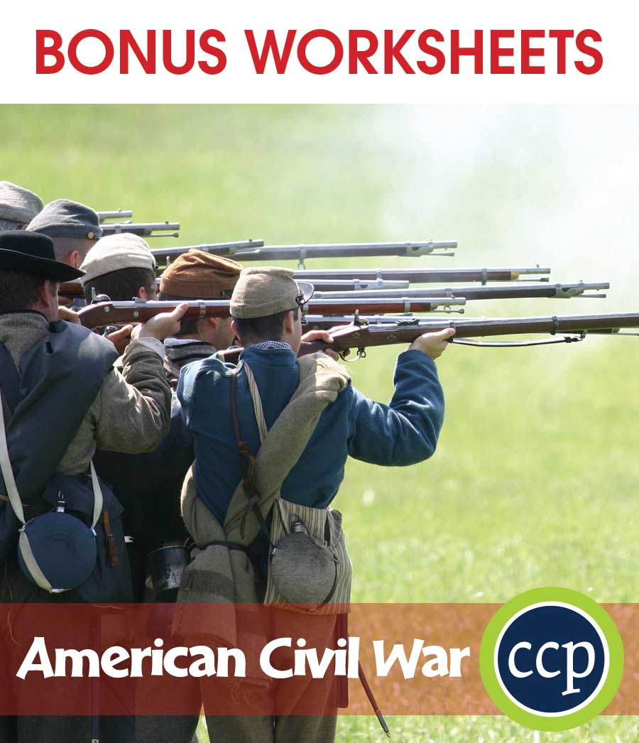 American Civil War Gr. 5-8 - BONUS WORKSHEETS - eBook