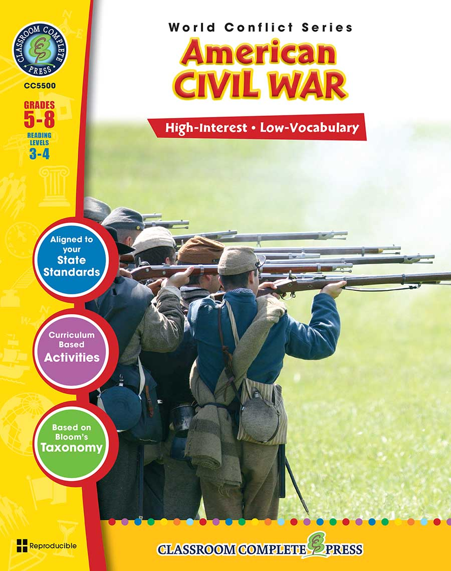 American Civil War Gr. 5-8 - print book