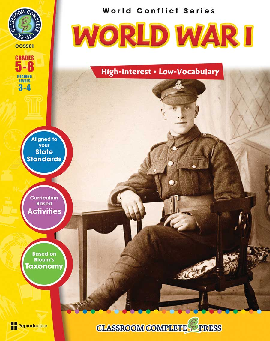 World War 1 Gr. 5-8 - print book