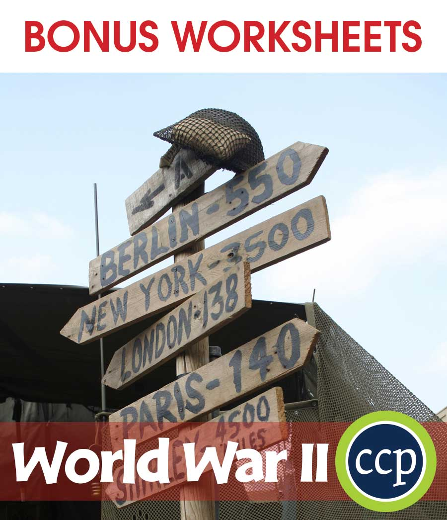 World War II Gr. 5-8 - BONUS WORKSHEETS - eBook