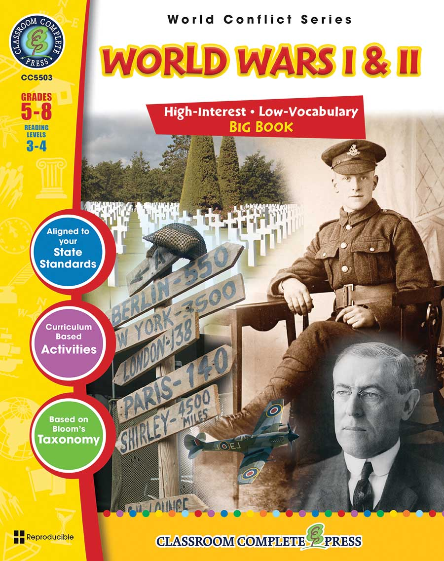 World Wars 1 & 2 Big Book Gr. 5-8 - print book