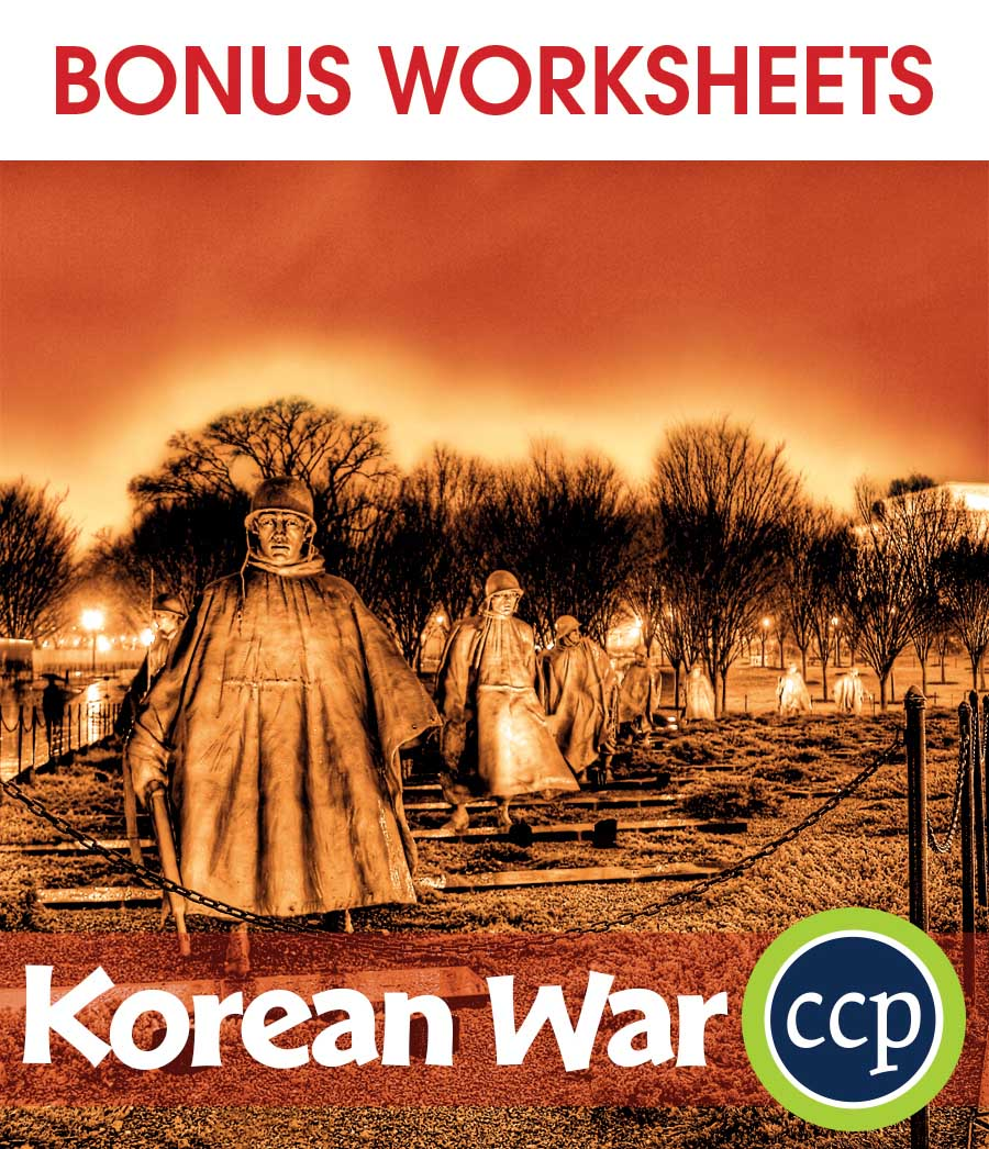Korean War Gr. 5-8 - BONUS WORKSHEETS - eBook
