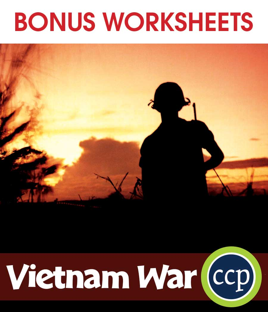 Vietnam War Gr. 5-8 - BONUS WORKSHEETS - eBook