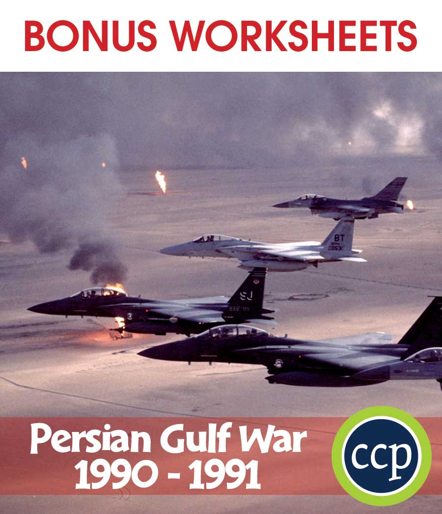 Persian Gulf War (1990-1991) Gr. 5-8 - BONUS WORKSHEETS - eBook