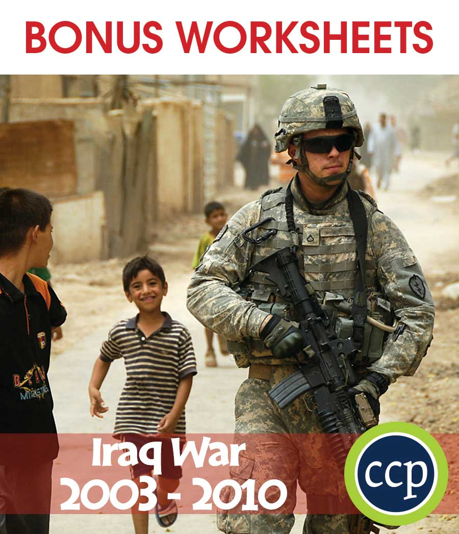 Iraq War (2003-2010) Gr. 5-8 - BONUS WORKSHEETS - eBook