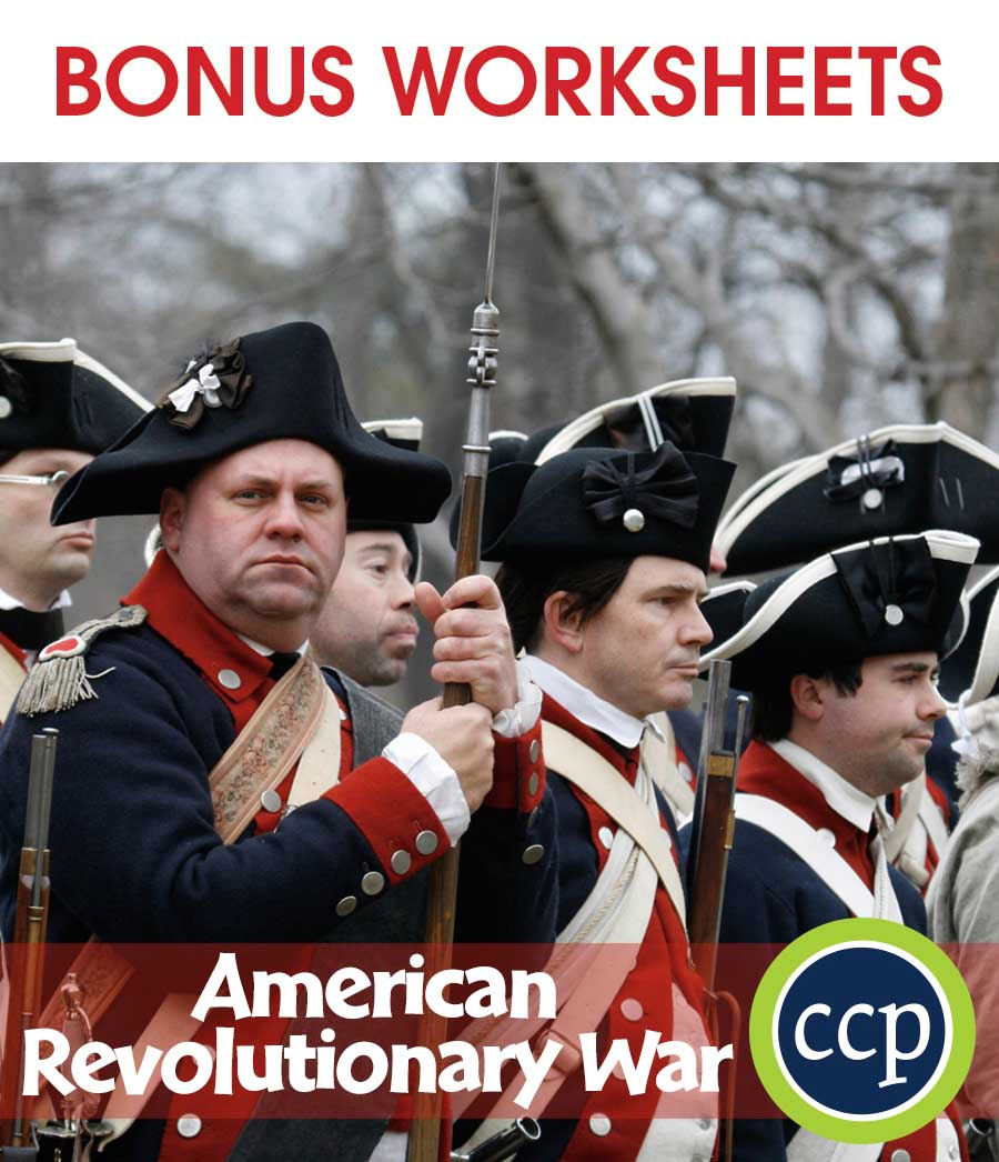 American Revolutionary War Gr. 5-8 - BONUS WORKSHEETS - eBook