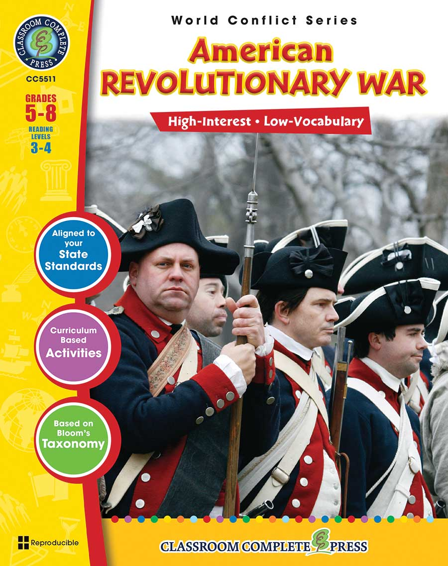 American Revolutionary War Gr. 5-8 - print book