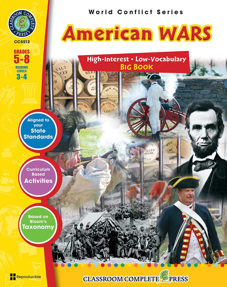 American Wars Big Book Gr. 5-8 - print book