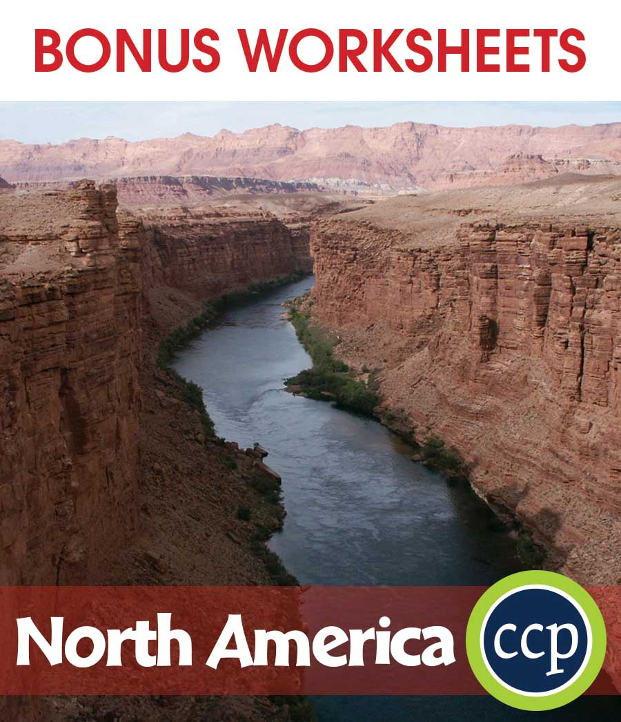 North America Gr. 5-8 - BONUS WORKSHEETS - eBook