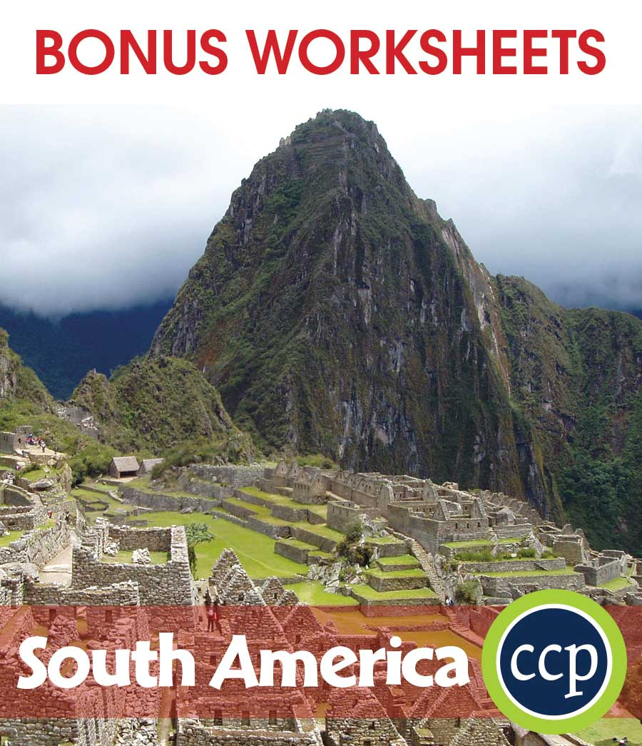 South America Gr. 5-8 - BONUS WORKSHEETS - eBook