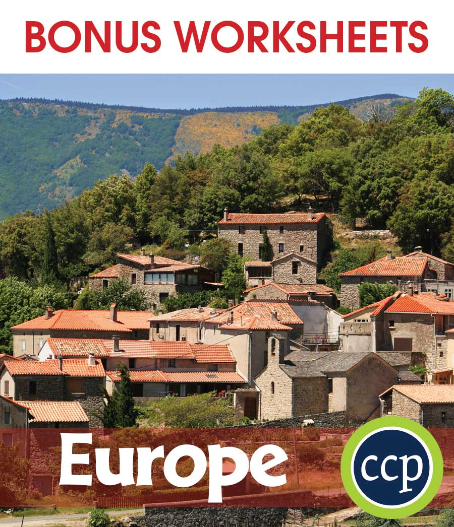 Europe Gr. 5-8 - BONUS WORKSHEETS - eBook