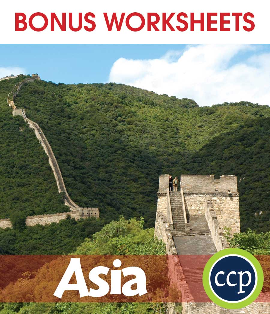 Asia Gr. 5-8 - BONUS WORKSHEETS - eBook