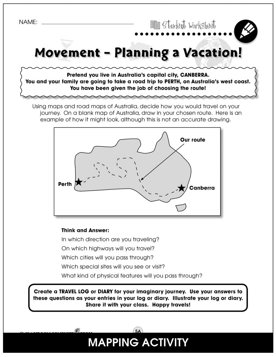 Australia Gr. 5-8 - BONUS WORKSHEETS - eBook
