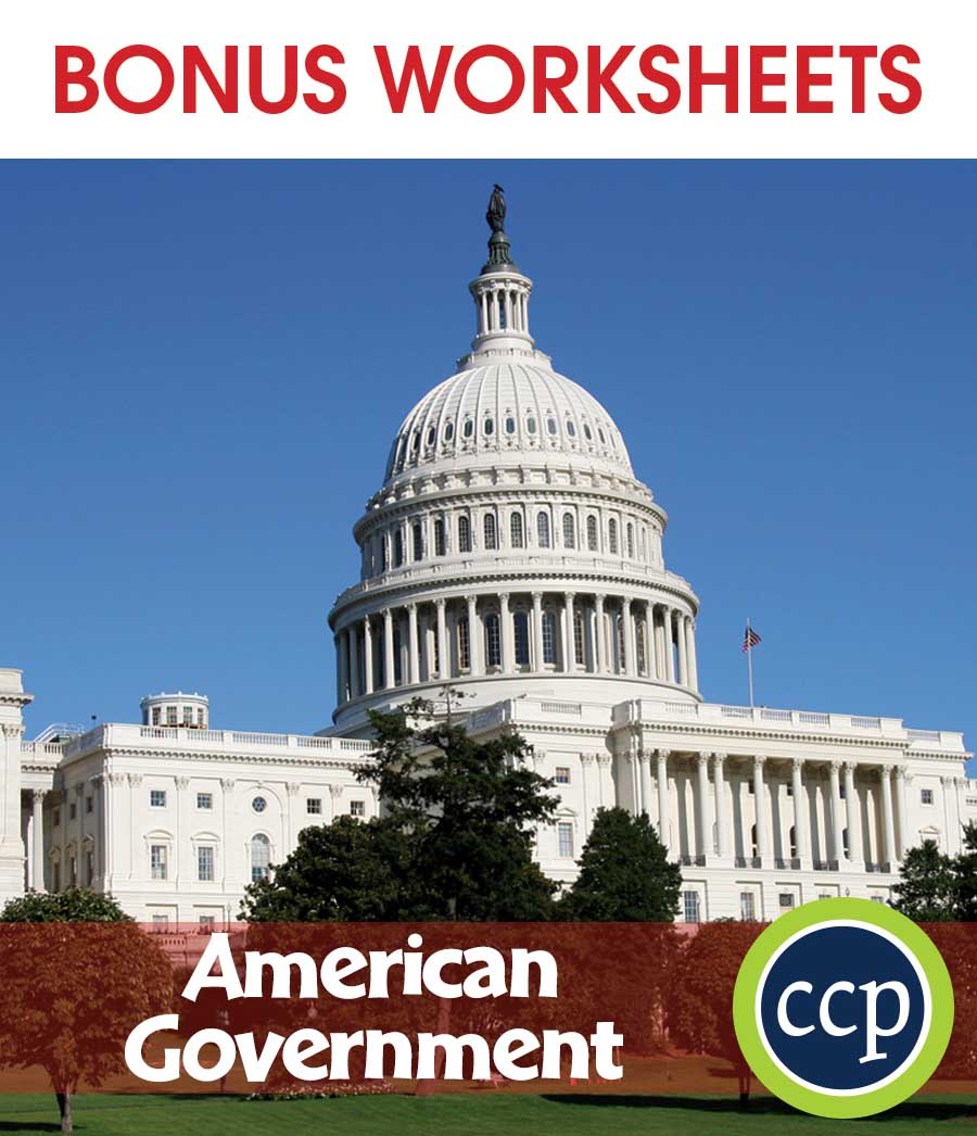 American Government Gr. 5-8 - BONUS WORKSHEETS - eBook