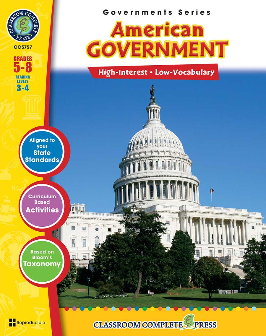 American Government Gr. 5-8 - print book