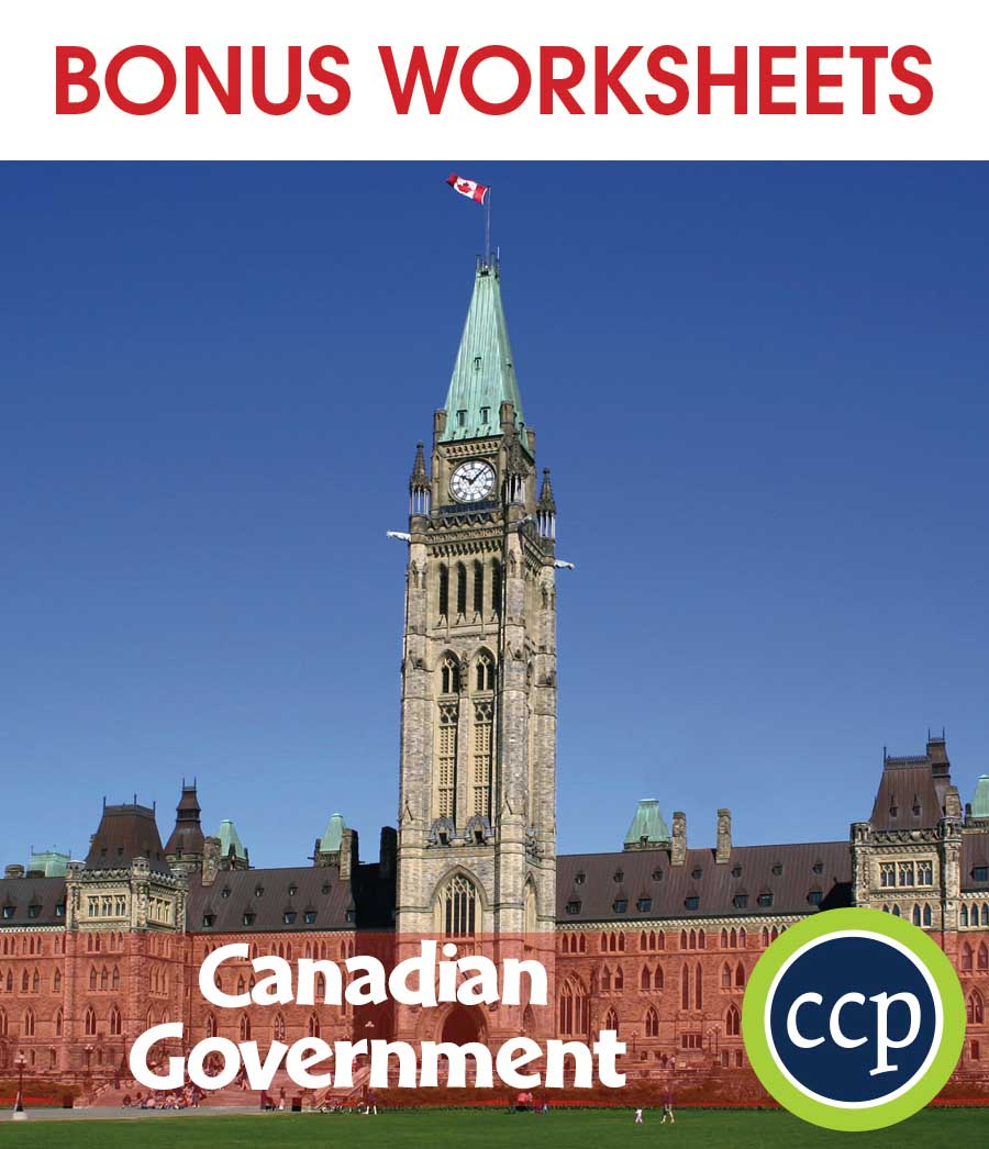 Canadian Government Gr. 5-8 - BONUS WORKSHEETS - eBook