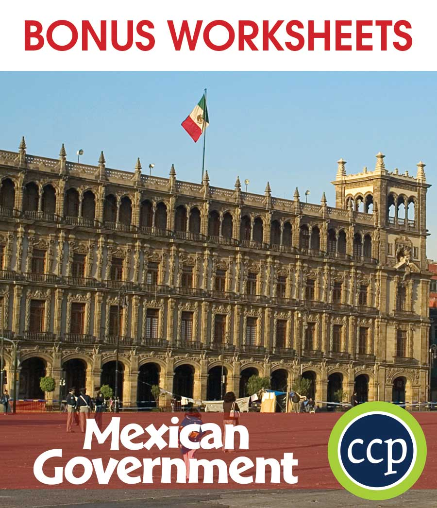 Mexican Government Gr. 5-8 - BONUS WORKSHEETS - eBook