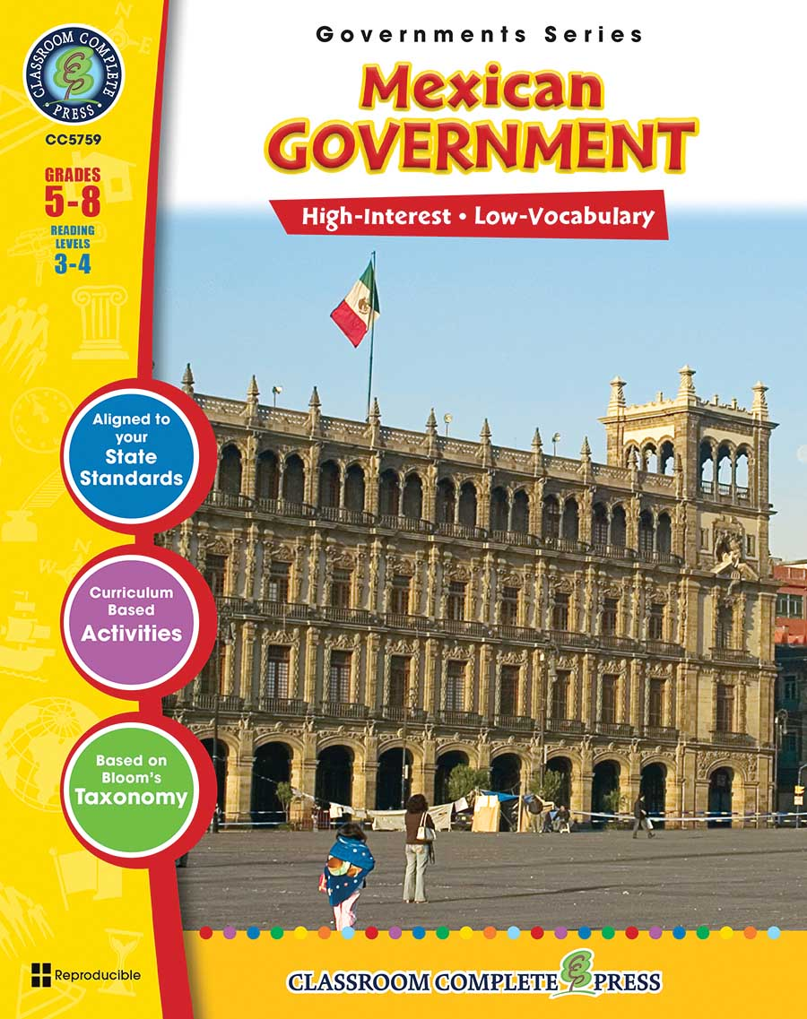 Mexican Government Gr. 5-8 - print book