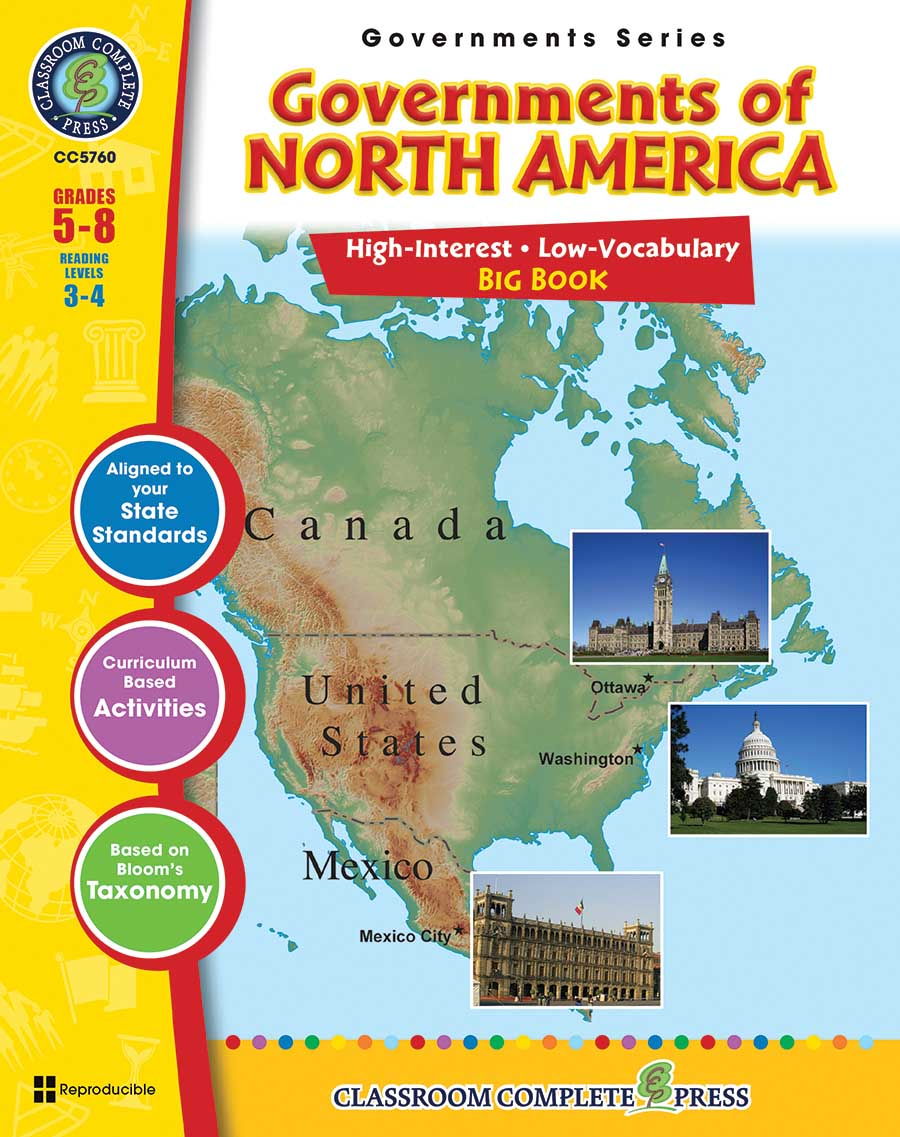 Governments of North America Big Book Gr. 5-8 - print book