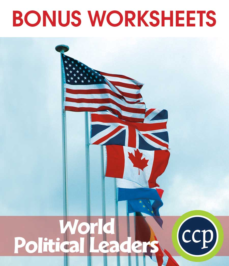 World Political Leaders Gr. 5-8 - BONUS WORKSHEETS - eBook
