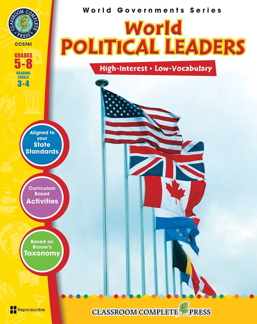 World Political Leaders Gr. 5-8 - print book