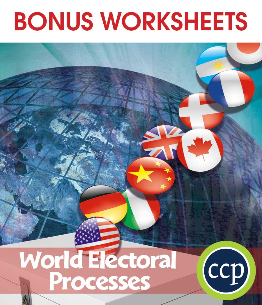 World Electoral Processes Gr. 5-8 - BONUS WORKSHEETS - eBook