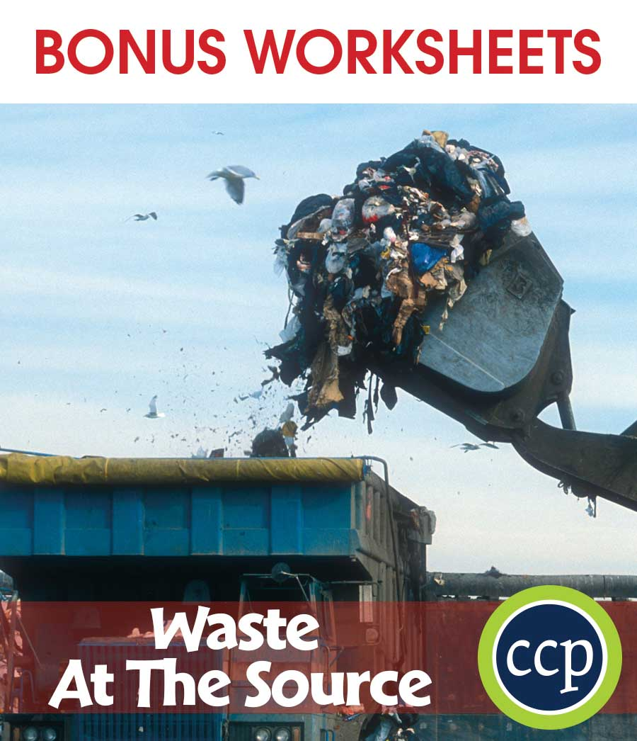 Waste: At the Source Gr. 5-8 - BONUS WORKSHEETS - eBook