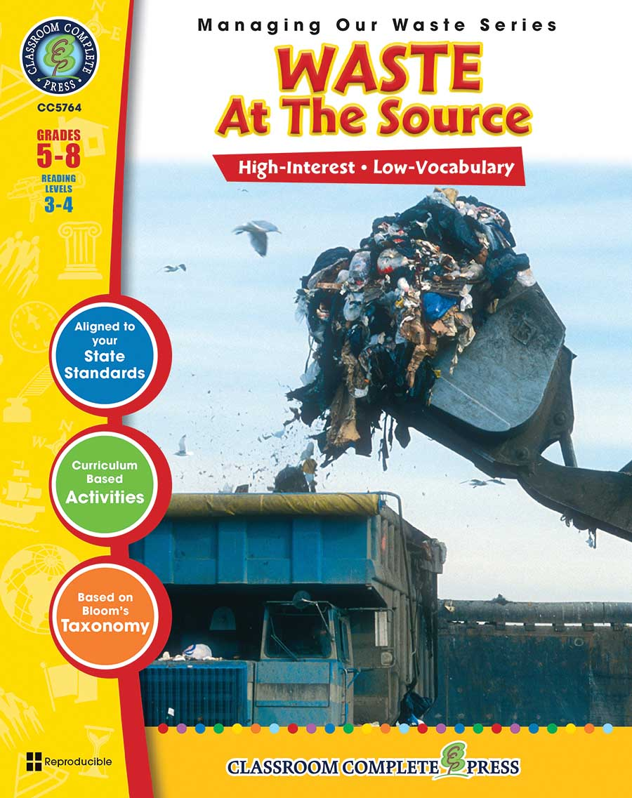 Waste: At the Source Gr. 5-8 - print book