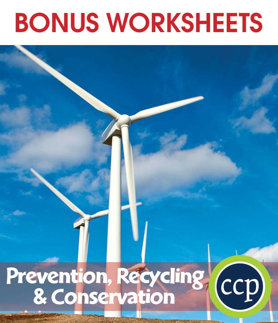 Prevention, Recycling & Conservation Gr. 5-8 - BONUS WORKSHEETS - eBook