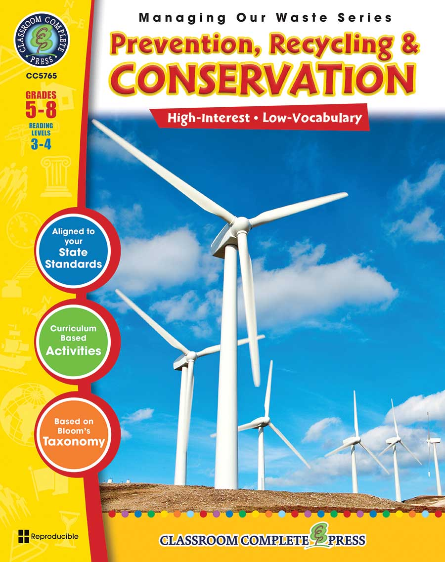 Prevention, Recycling & Conservation Gr. 5-8 - print book