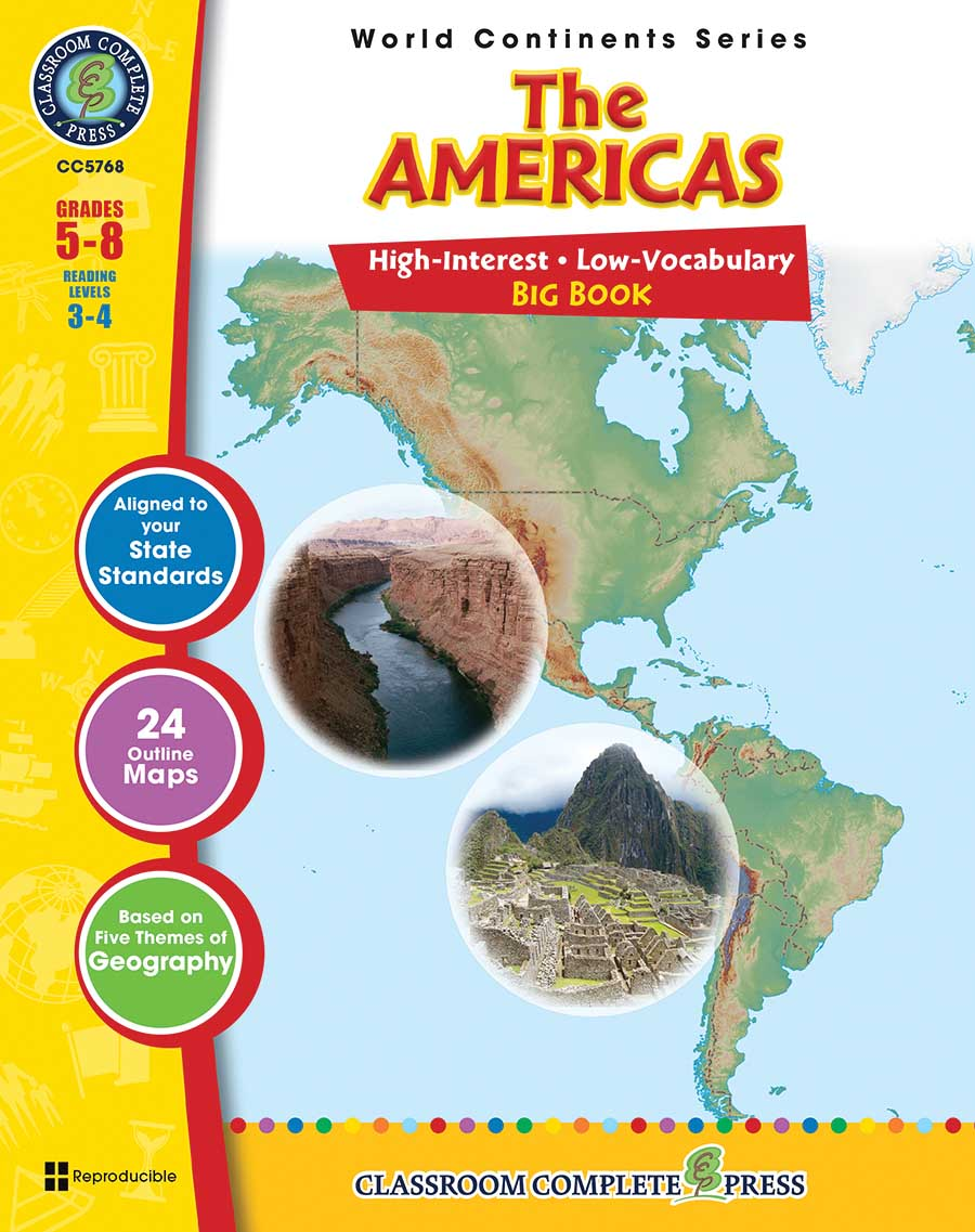 The Americas Big Book Gr. 5-8 - print book
