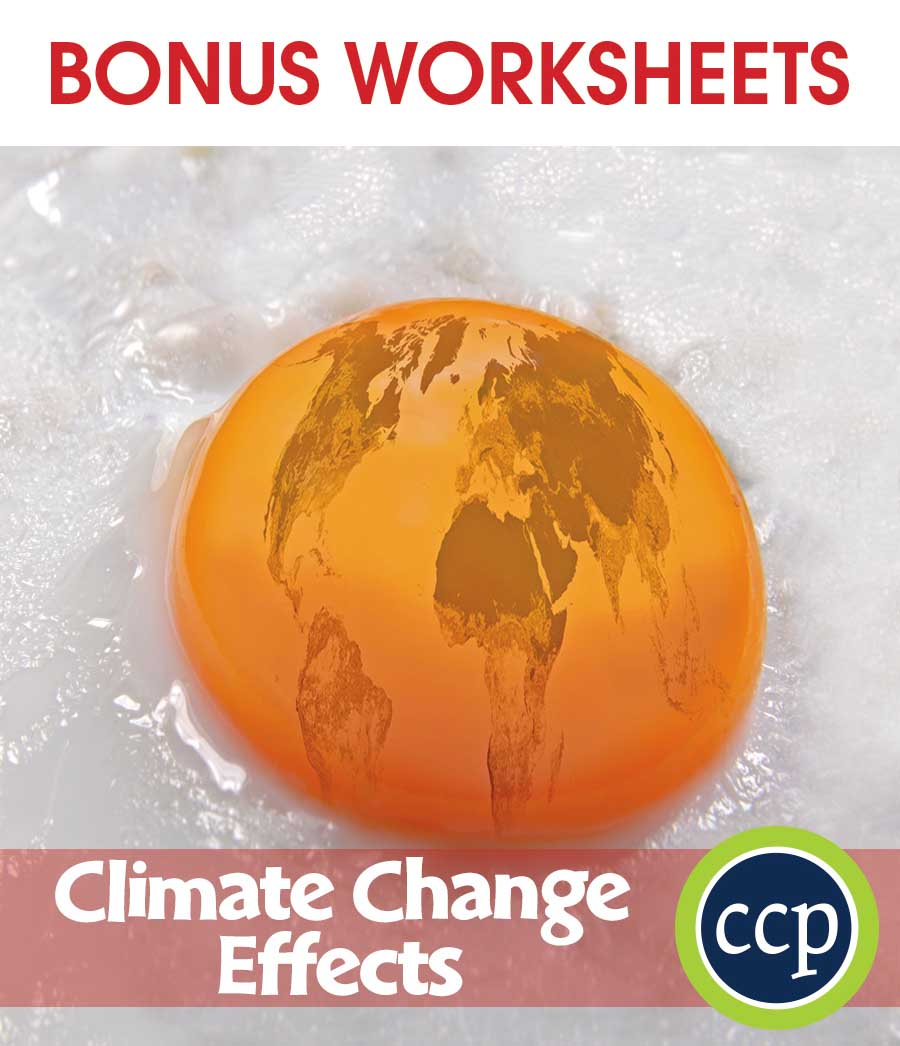 Global Warming: Effects Gr. 5-8 - BONUS WORKSHEETS - eBook